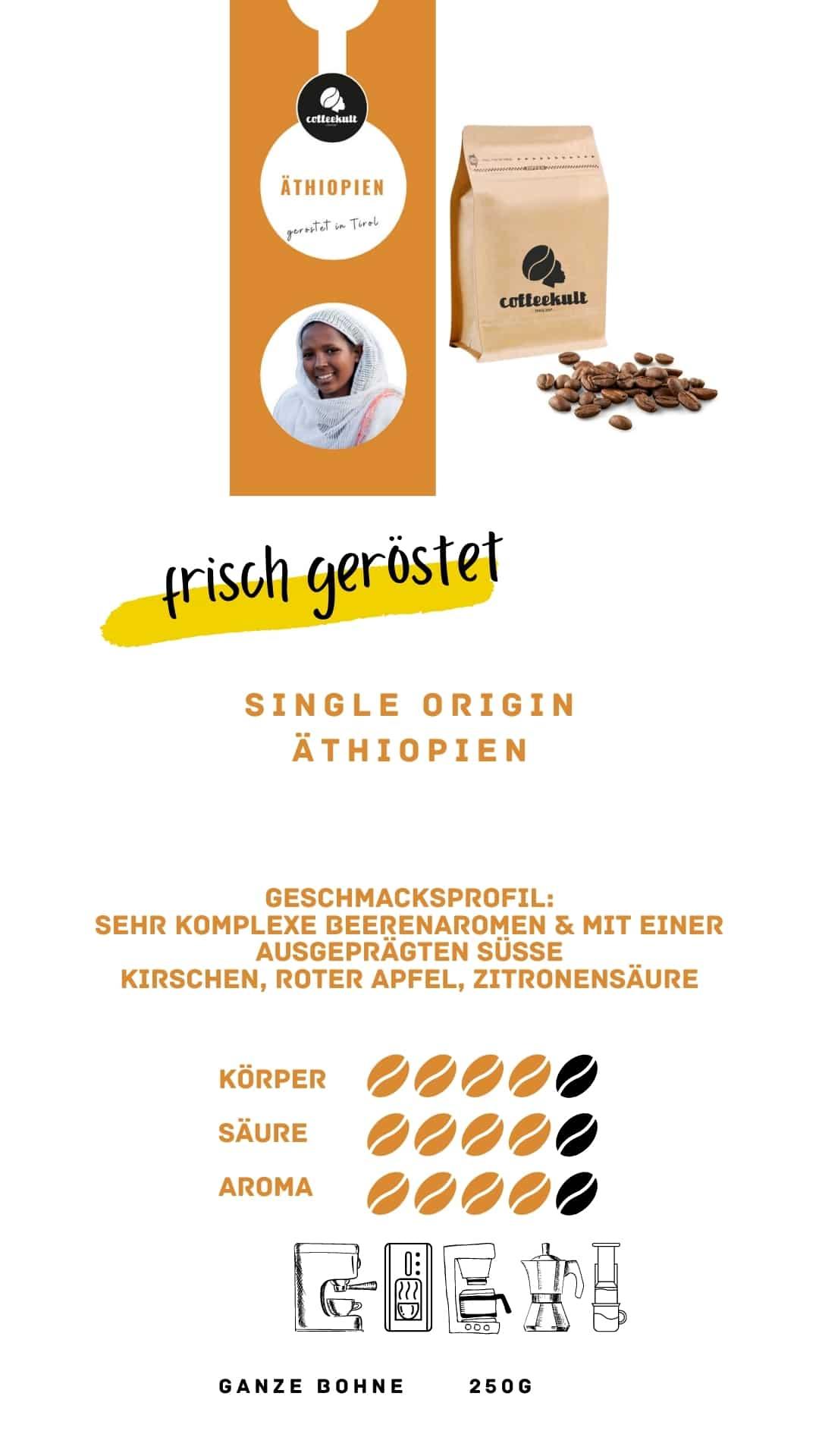 coffeekult coffee frisch geröstet barista kaffeerösterei innsbruck arabica bohnen äthiopien
