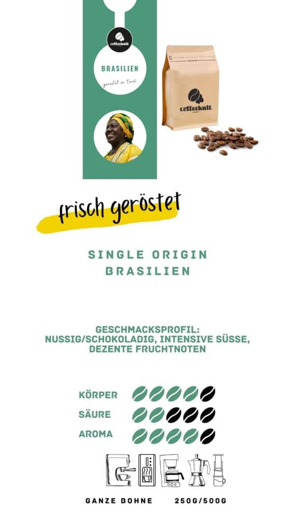 coffeekult coffee frisch geröstet barista kaffeerösterei innsbruck arabica bohnen brasilien