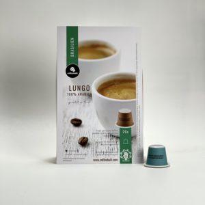coffeekult frisch geröstet kaffee lungo kapseln brasilien arabica